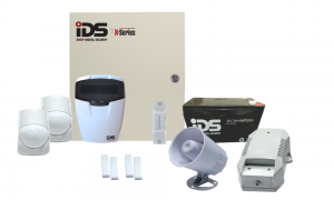 COMBO 2 – IDS X64 64 wired zones alarm kit components