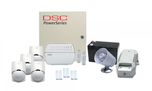COMBO 3 – DSC Power Series 16 wired zones alarm kit components