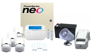 COMBO 4 – DSC NEO 64 hybrid zones wired alarm kit componen