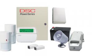 COMBO 8 – DSC Power Series 64/32 hybrid zones wireless alarm kit components