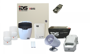 COMBO 6 – IDS X64 hybrid 8-64 wired + 16 wireless zones alarm kit components
