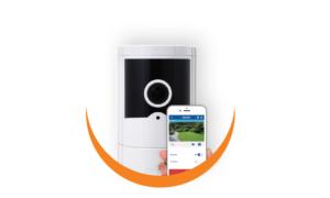 OPTEX  VXI CMOD 180° Wi-Fi verification camera, SD card,  microphone, free App