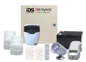 COMBO 4 – IDS X64 wired zones alarm kit